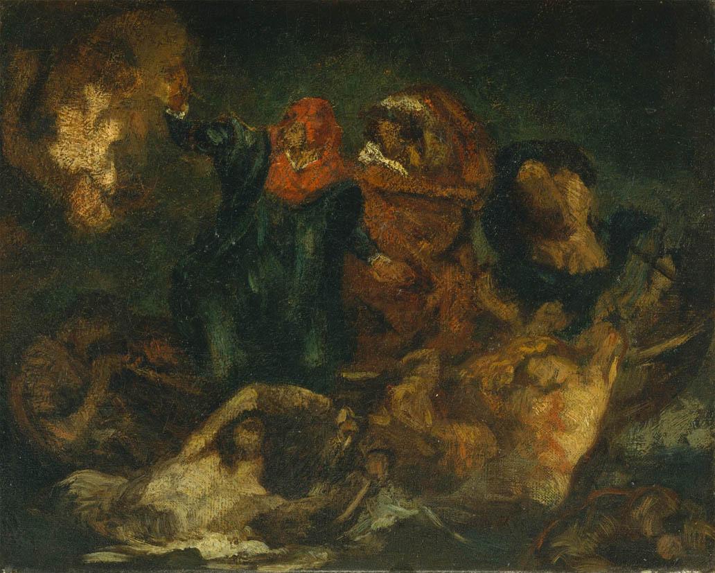 La Barque de Dante, d'après Delacroix (c. 1859)