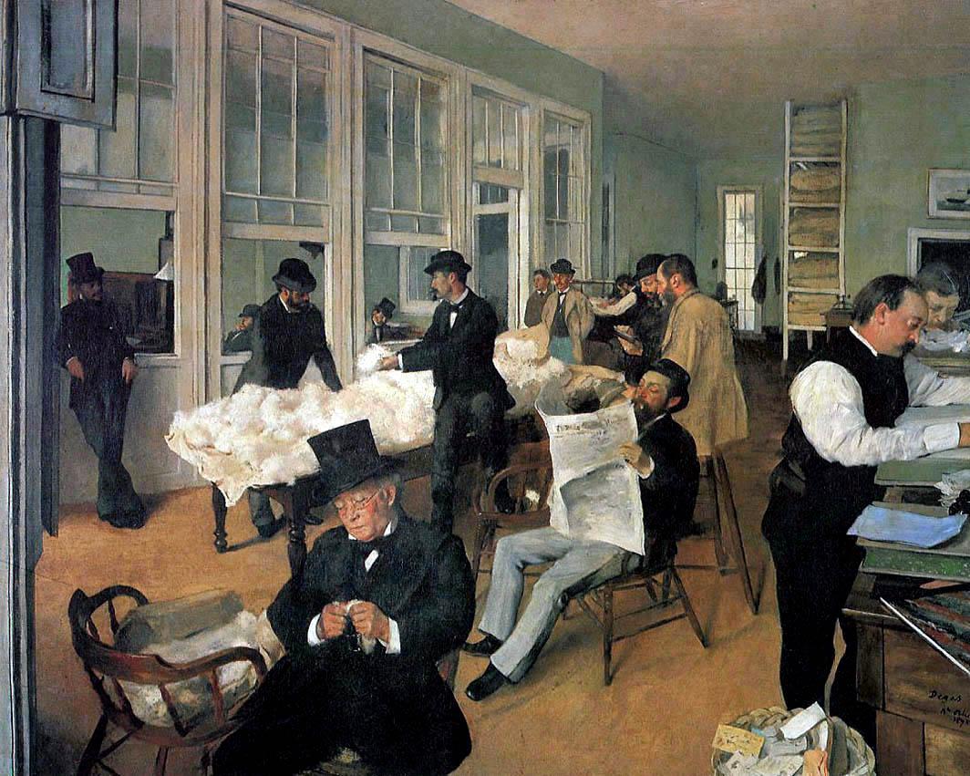 Le Bureau de coton à La Nouvelle-Orléans (1873)