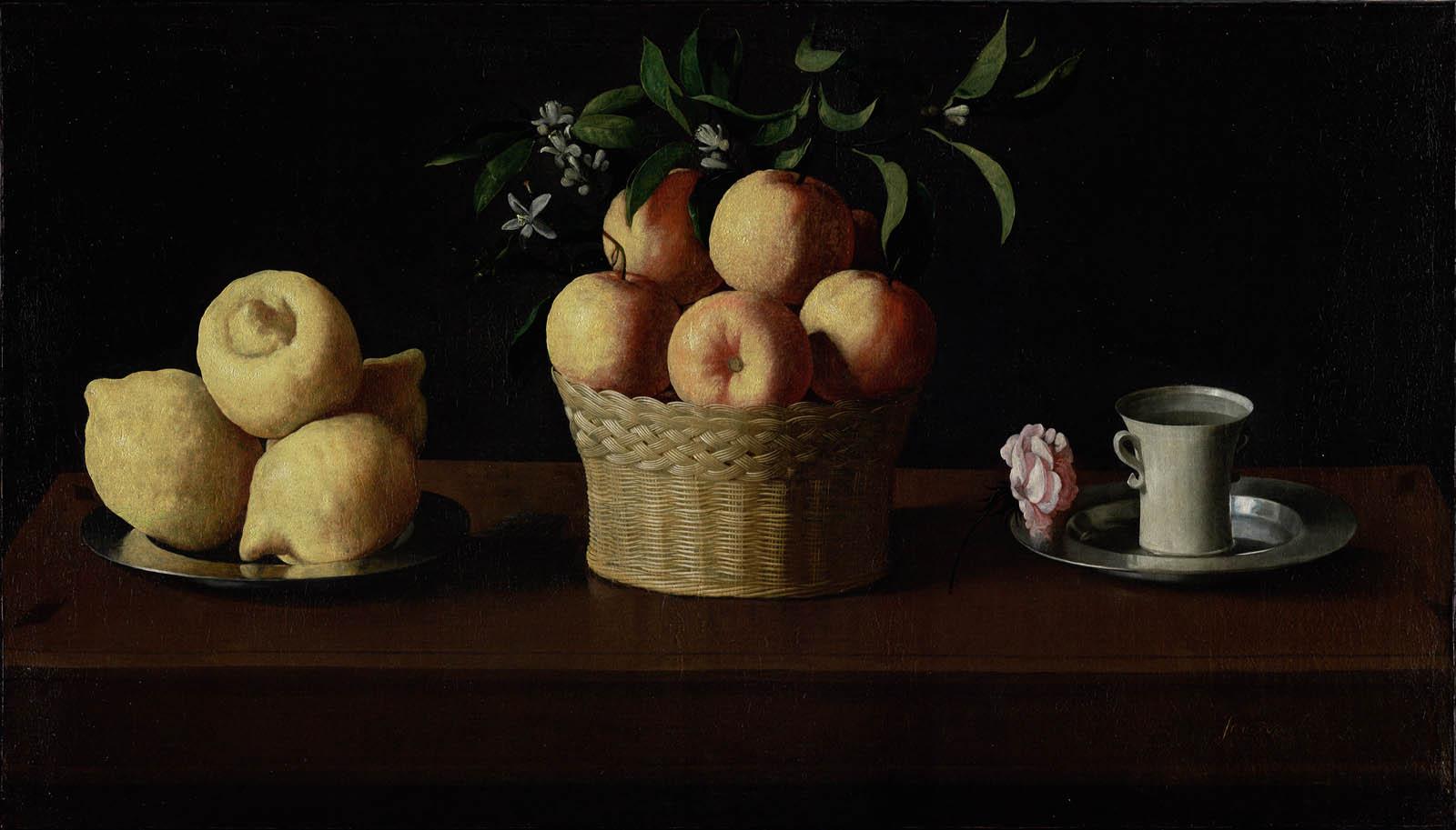 Limones, naranjas y rosa (1633)
