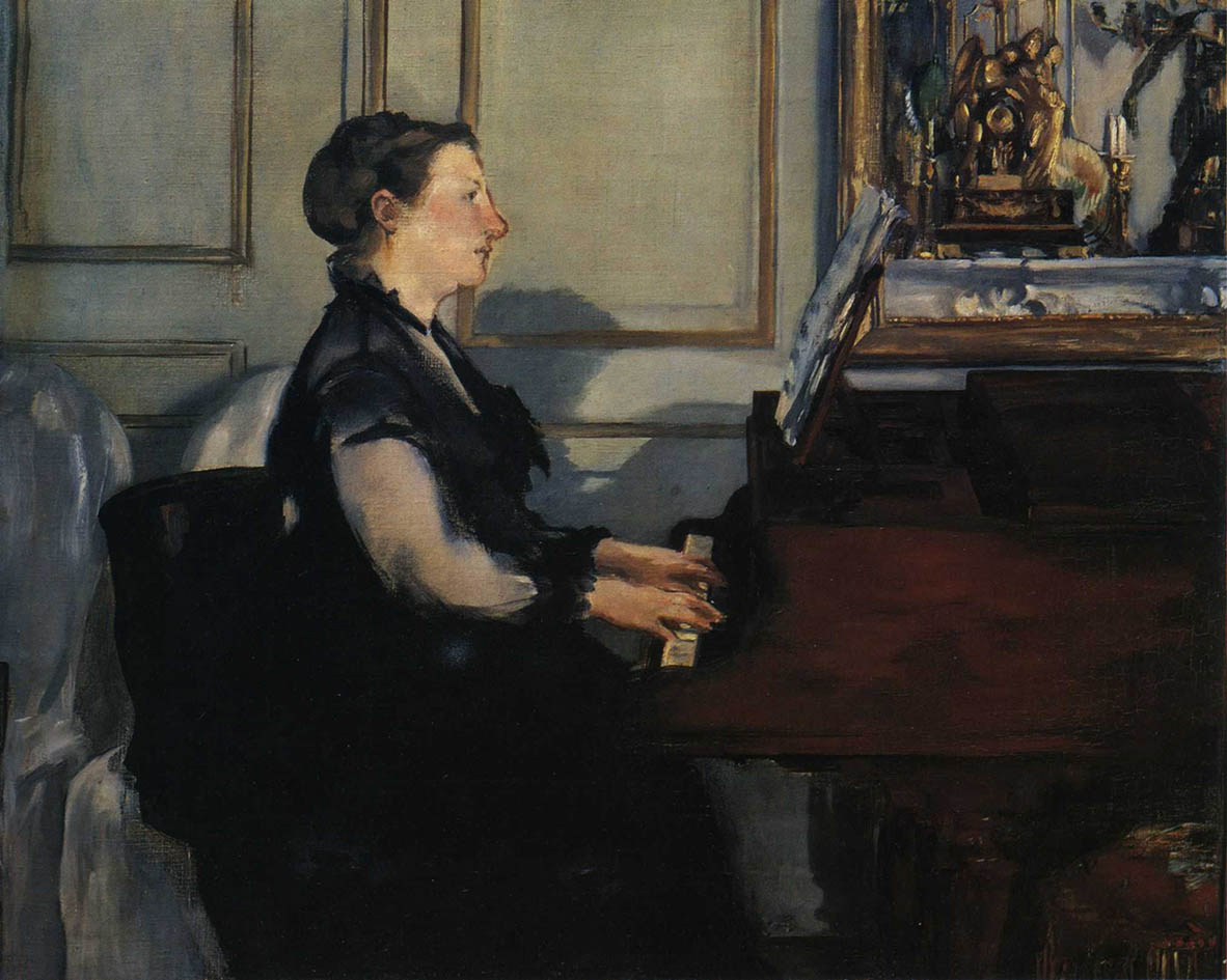 Madame Manet au piano (1868)