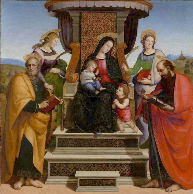 Madonna in trono con santi (1504-1505)