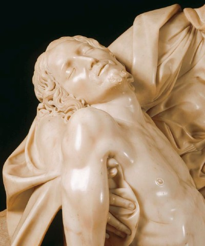 Detail Showing the Dead Christ from the Pieta by Michelangelo Buonarroti