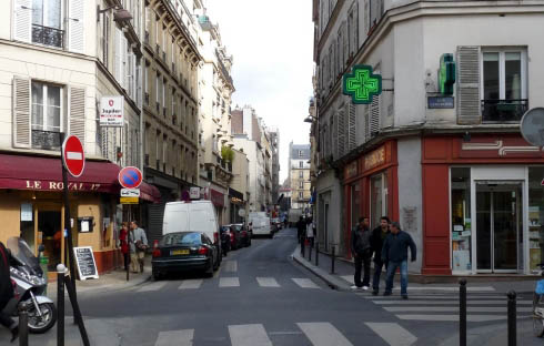 Rue La Condamine today