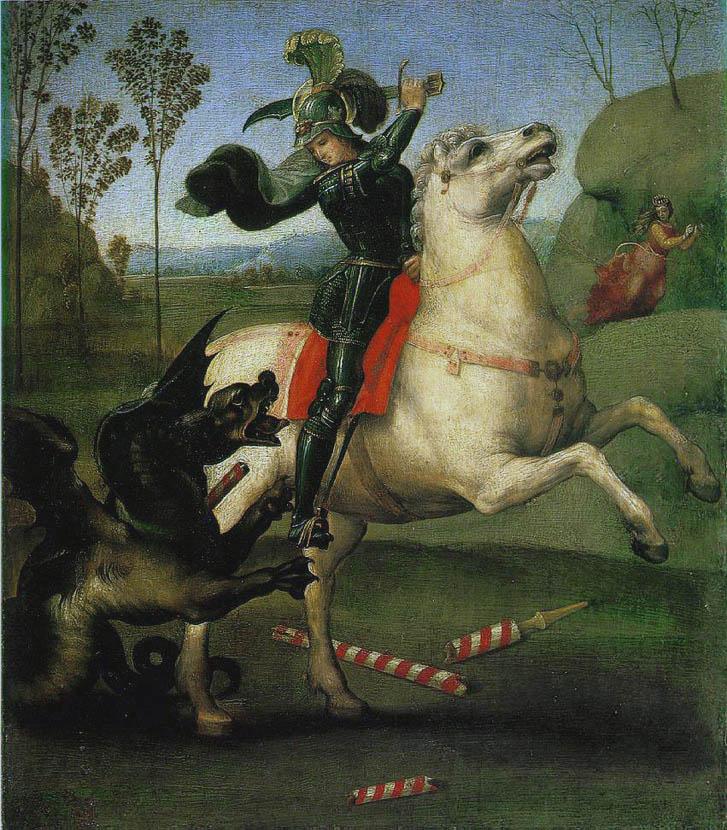 San Giorgio e il drago, Louvre (1503-1505)