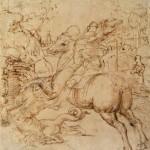 San Giorgio uccide il drago (disegno)