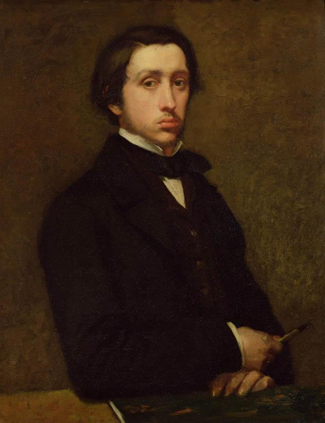Degas, Portrait de l'artiste (1855)
