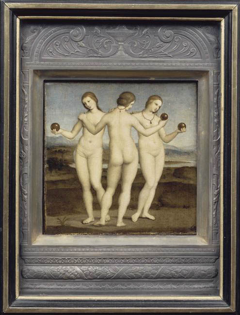 Le Tre Grazie, framed (1504-1505)