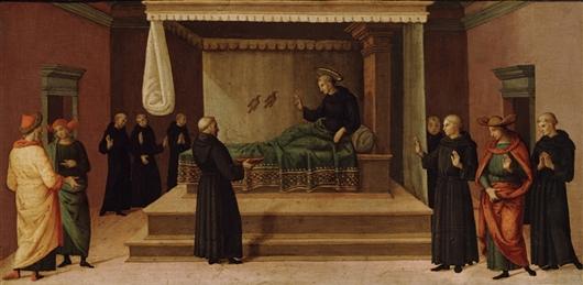 Nicola da Tolentino resuscita due colombe (c. 1500)