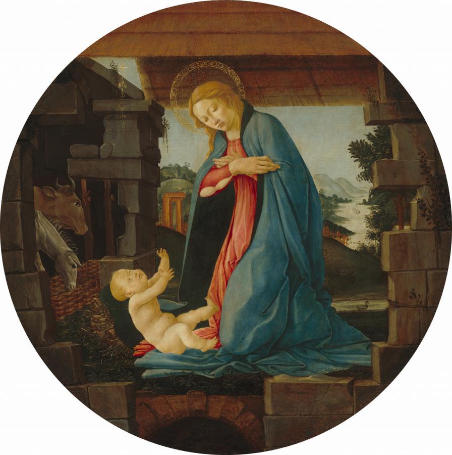Madonna che adora il Bambino (1480-1490)