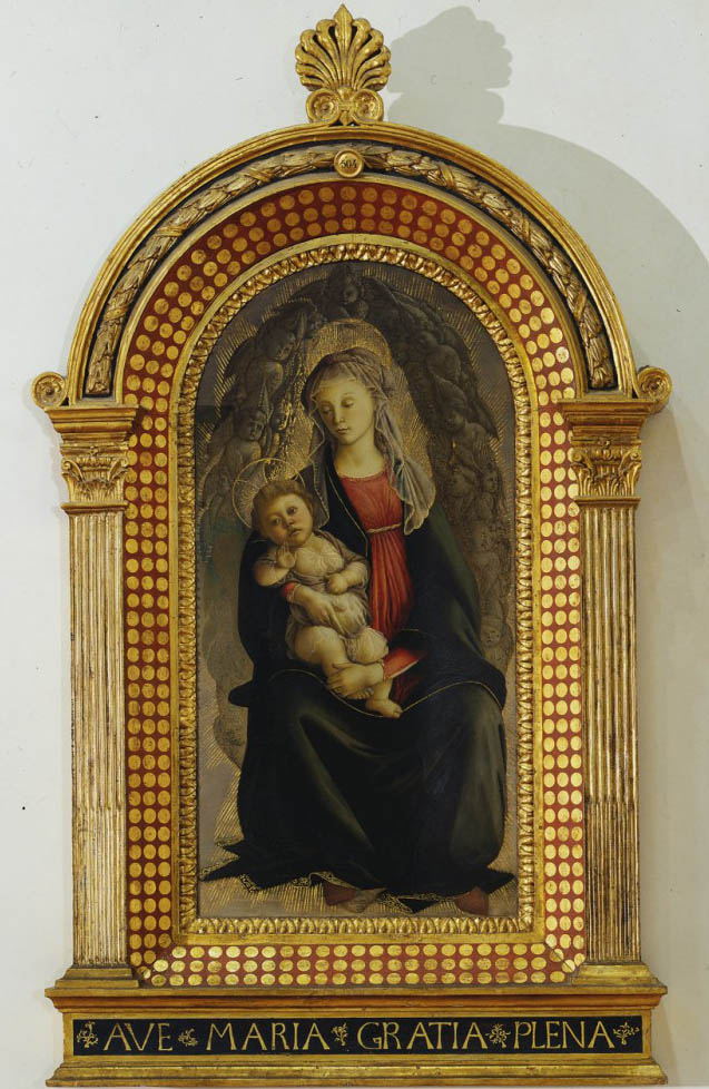 Madonna in gloria di serafini (1469-1470-framed)