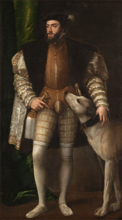 Ritratto di Carlo V con il cane (1533)