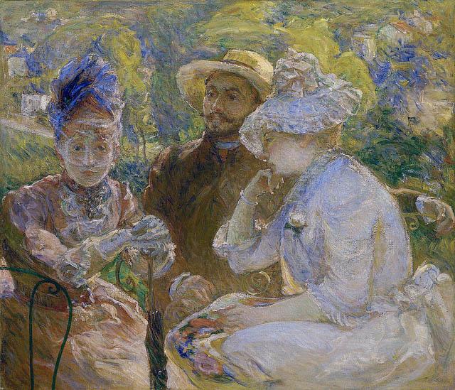 Sur la terrasse à Sèvres (1880)