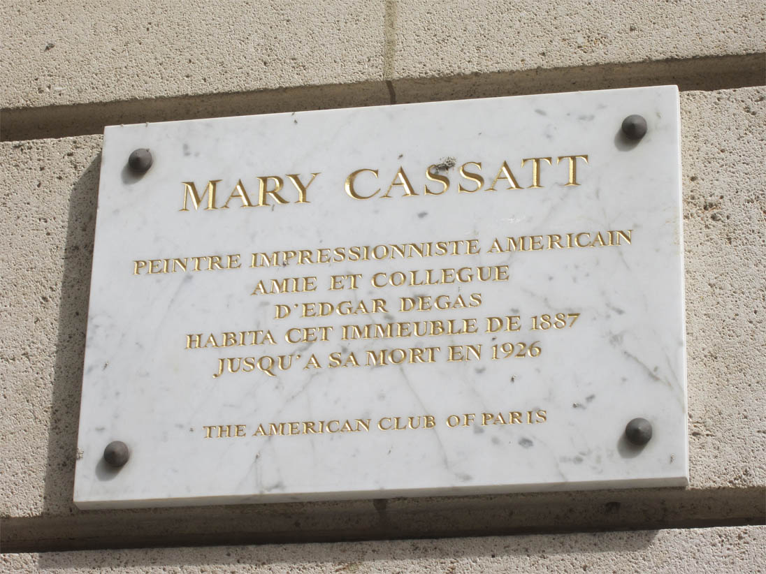The American Club of Paris, plaque