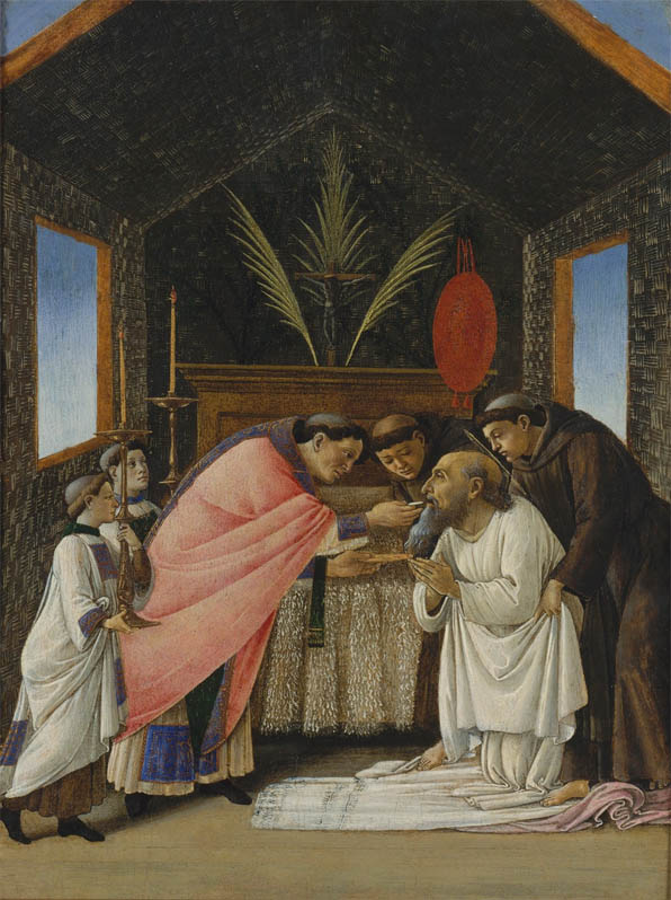 Ultima comunione di san Gerolamo (1490s)
