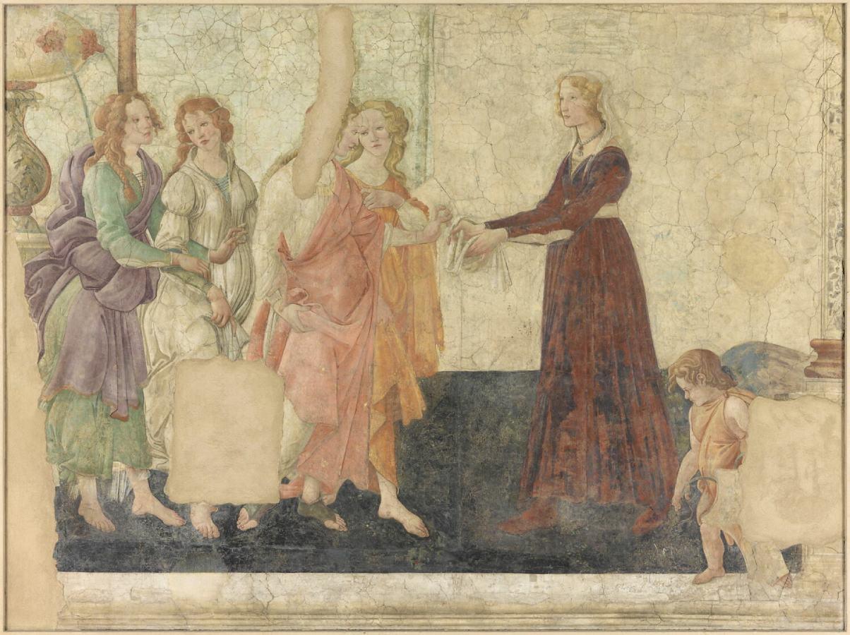 Venere e le tre Grazie offrono doni a una giovane (1483-1485)