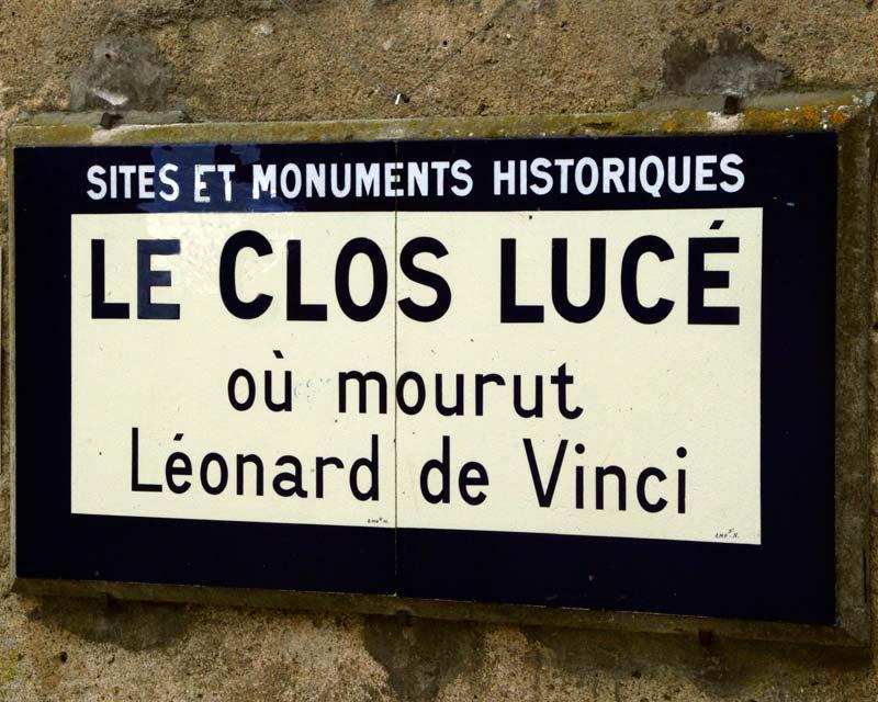 Château du Clos Lucé (Amboise-sign)