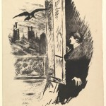 Illustration to The Raven by Edgar Allan Poe (1875)