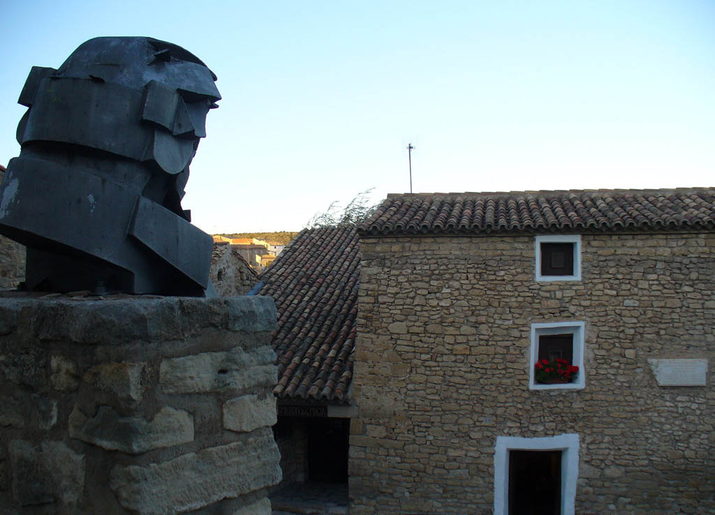 Statue of Goya in front of his birthplace
