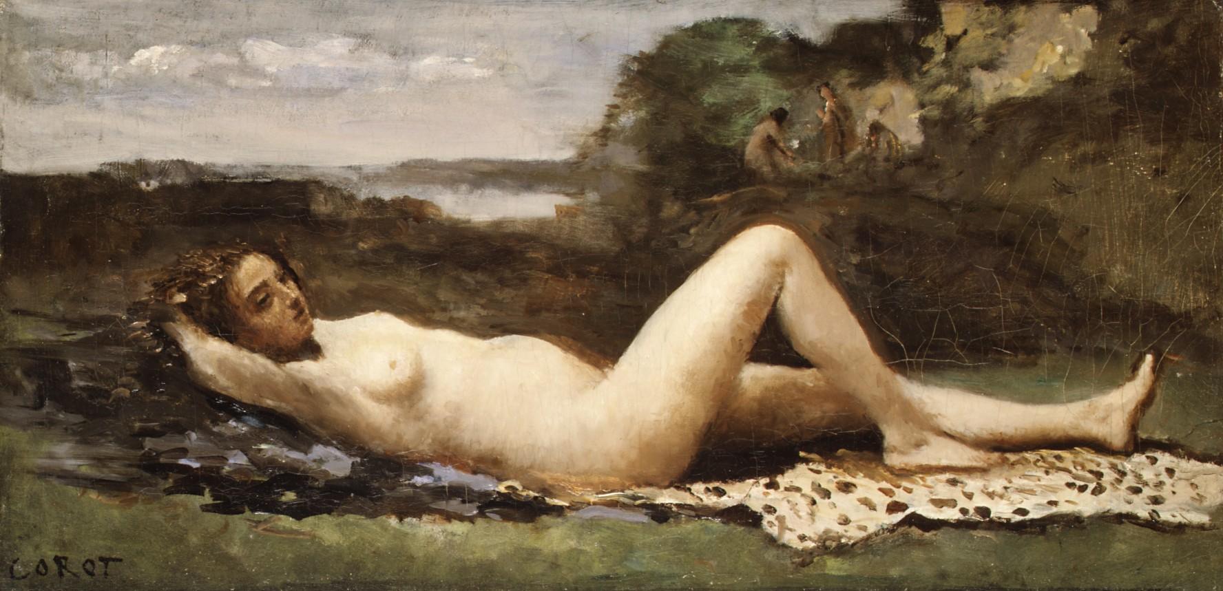 Bacchante dans un paysage (1865-1870)