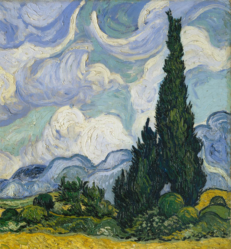 Wheat Field with Cypresses (1889-F 717, JH 1756-d-1)