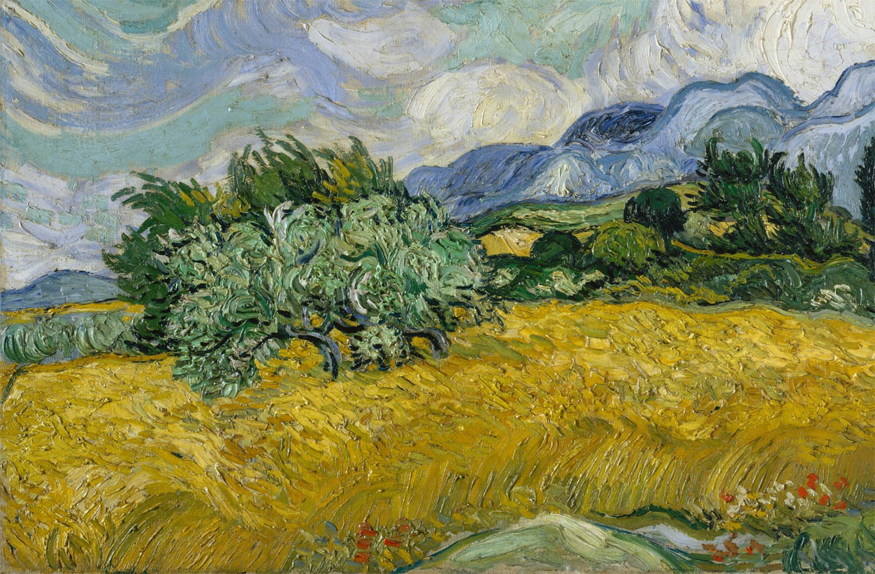 Wheat Field with Cypresses (1889-F 717, JH 1756-d-2)