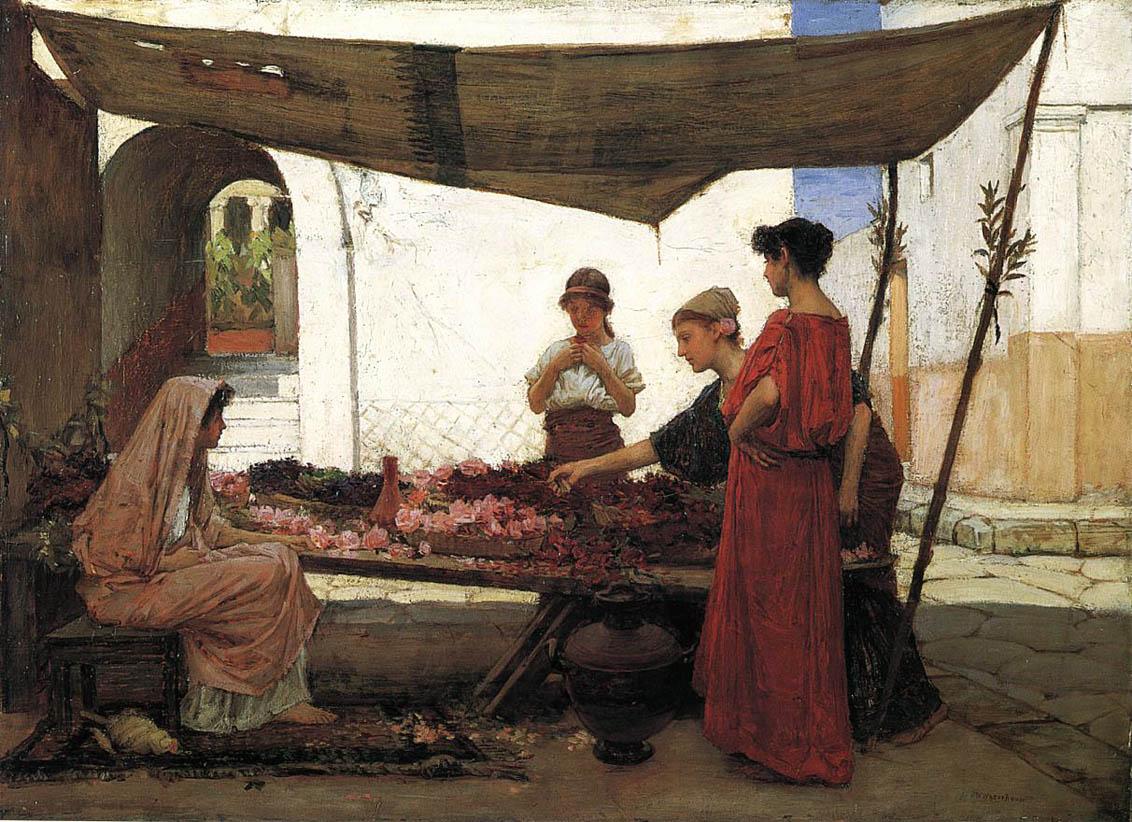 A Grecian Flower Market (1880)