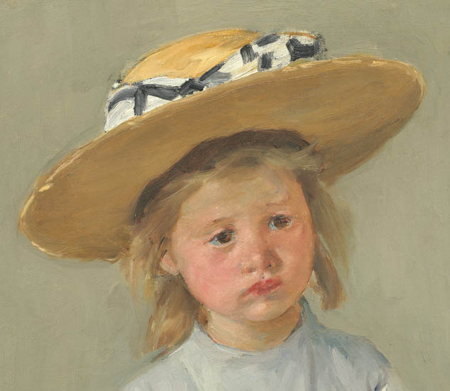 Child in a Straw Hat (c1886-d-1)