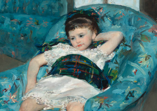 Little Girl in a Blue Armchair (1878-d-1)
