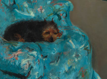 Little Girl in a Blue Armchair (1878-d-2)
