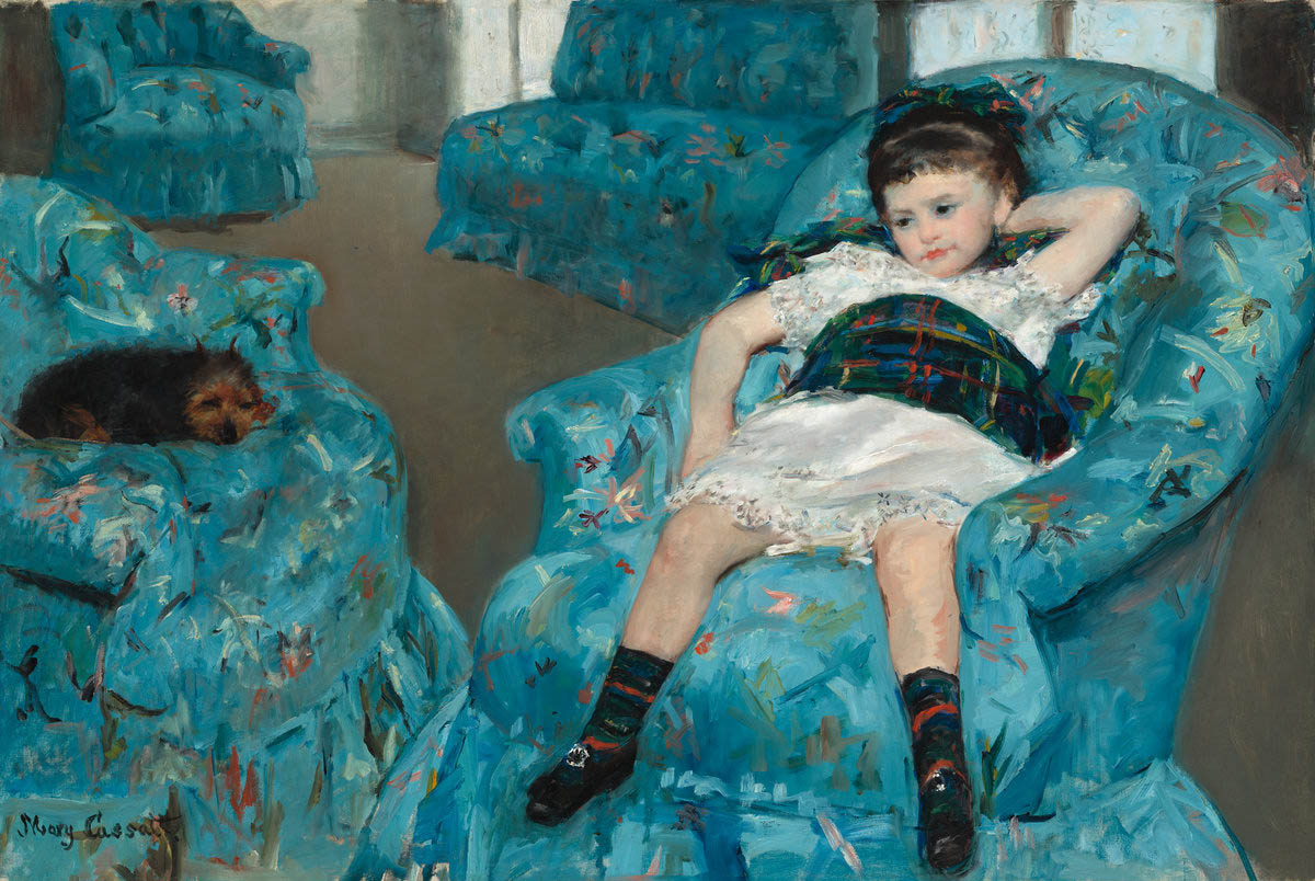 Little Girl in a Blue Armchair (1878)