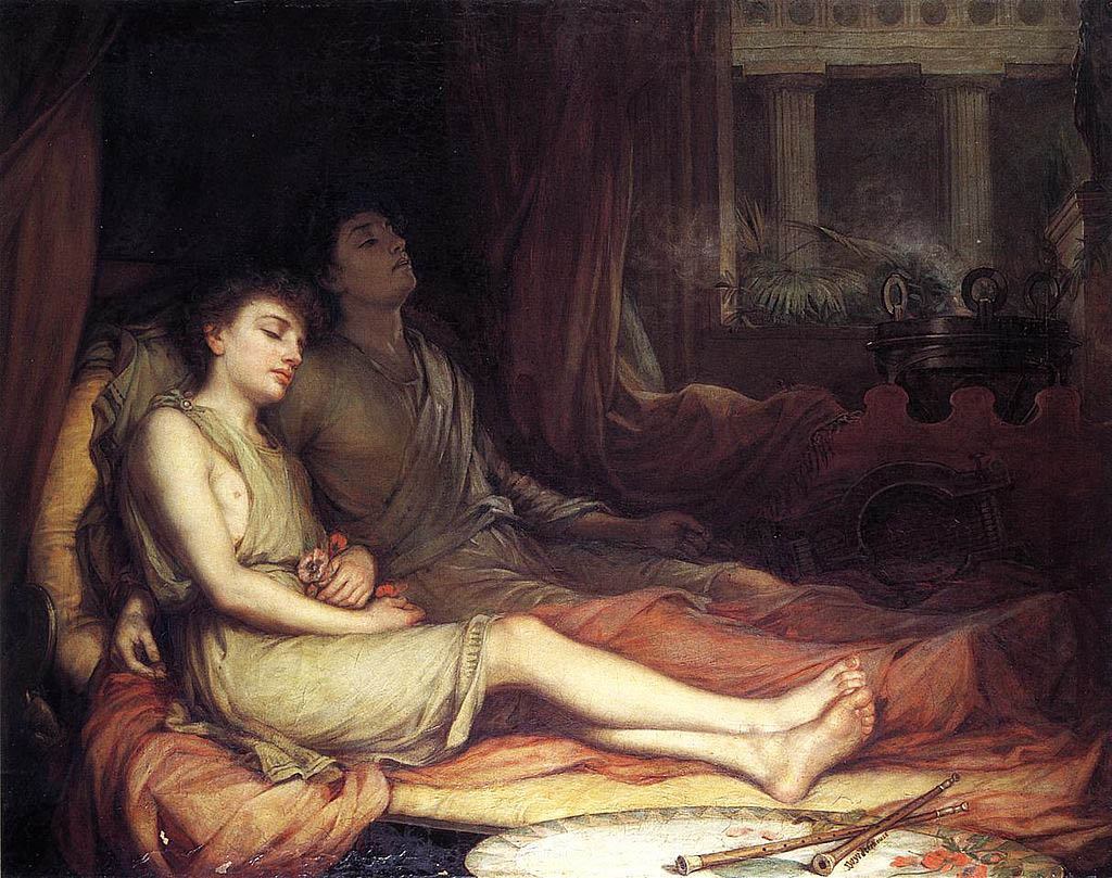Sleep and his Half-brother Death (1874)
