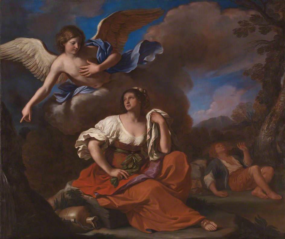 Agar e Ismaele nel deserto confortati dall'angelo (1652-1653)
