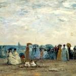 Baigneurs sur la plage de Trouville (1869)