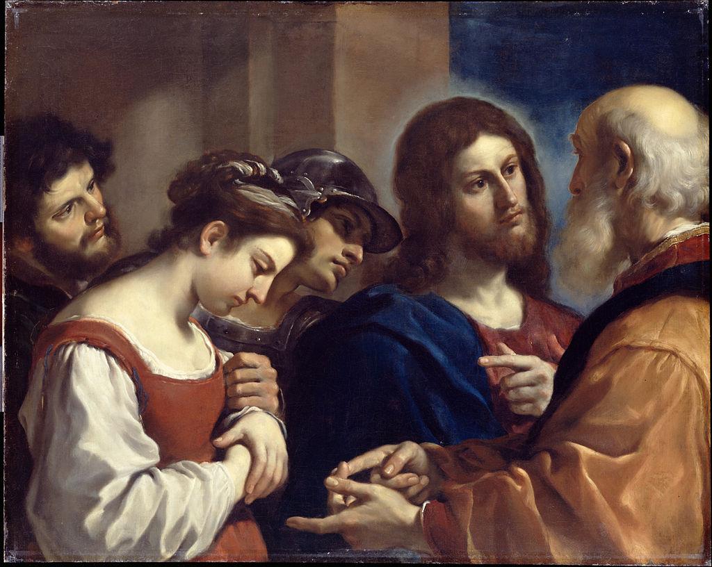 Cristo e ladultera (c 1621)