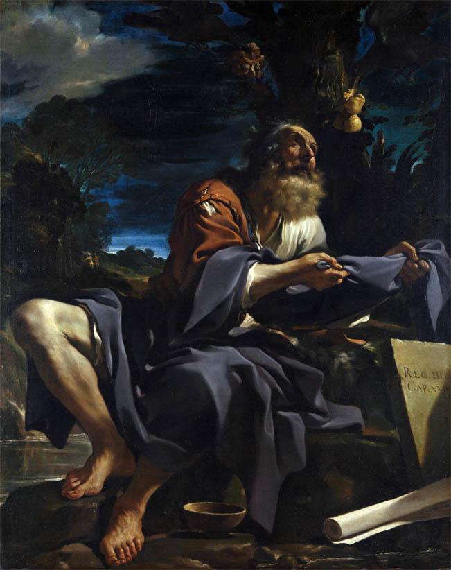 Elia nutrito dai corvi (1620)