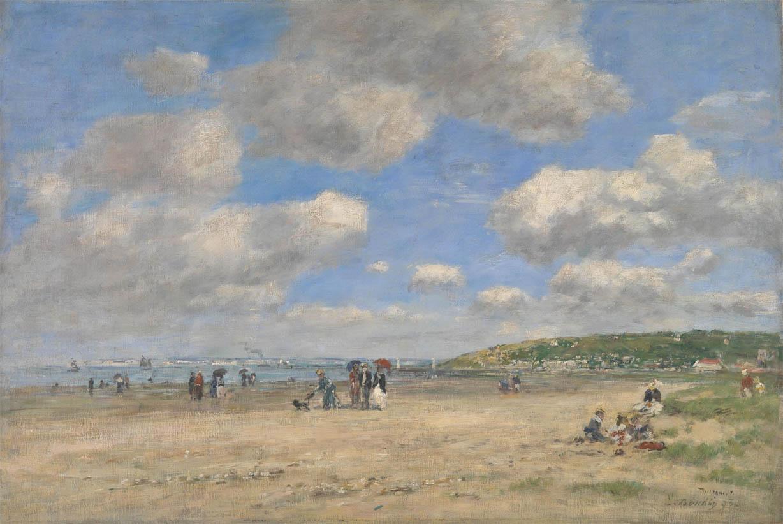 La plage à Tourgéville-les-Sablons (1893)