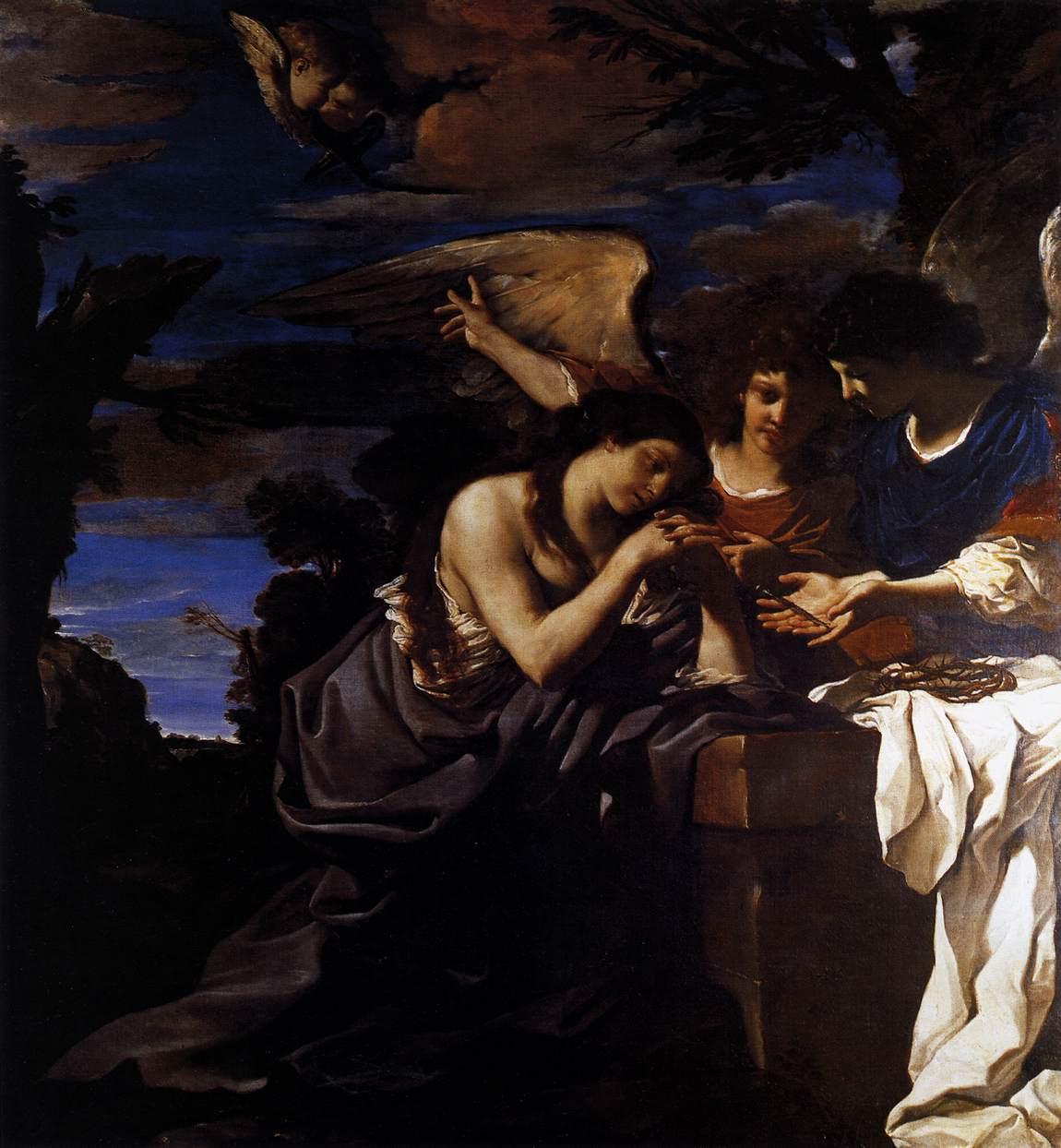 Maddalena pentita con due angeli (1622)
