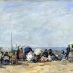 Scène de plage à Trouville (1860-1870)
