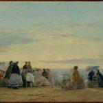 Sur la plage, coucher de soleil (1865)