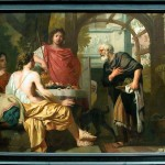 Abraham receiving the three angels of the Lord (1680-1685)