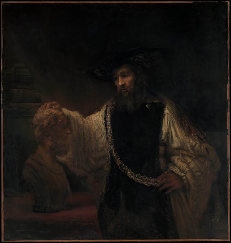 Aristotle and Bust of Homer (1653)