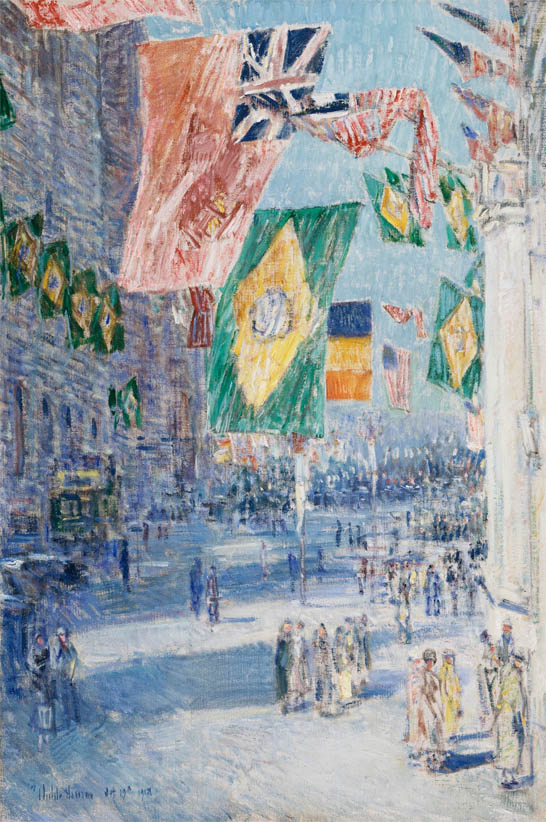 Avenue of the Allies, Brazil, Belgium (1918)