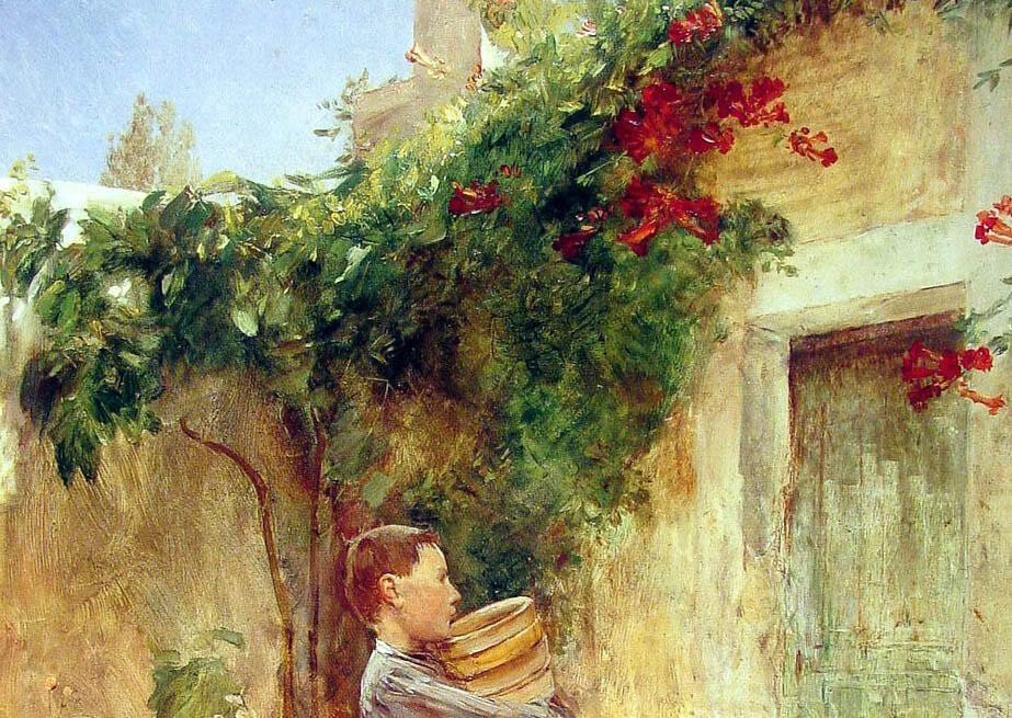 Boy with Flower Pots (1888-d-1)