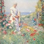 Celia Thaxter in Her Garden (1892)