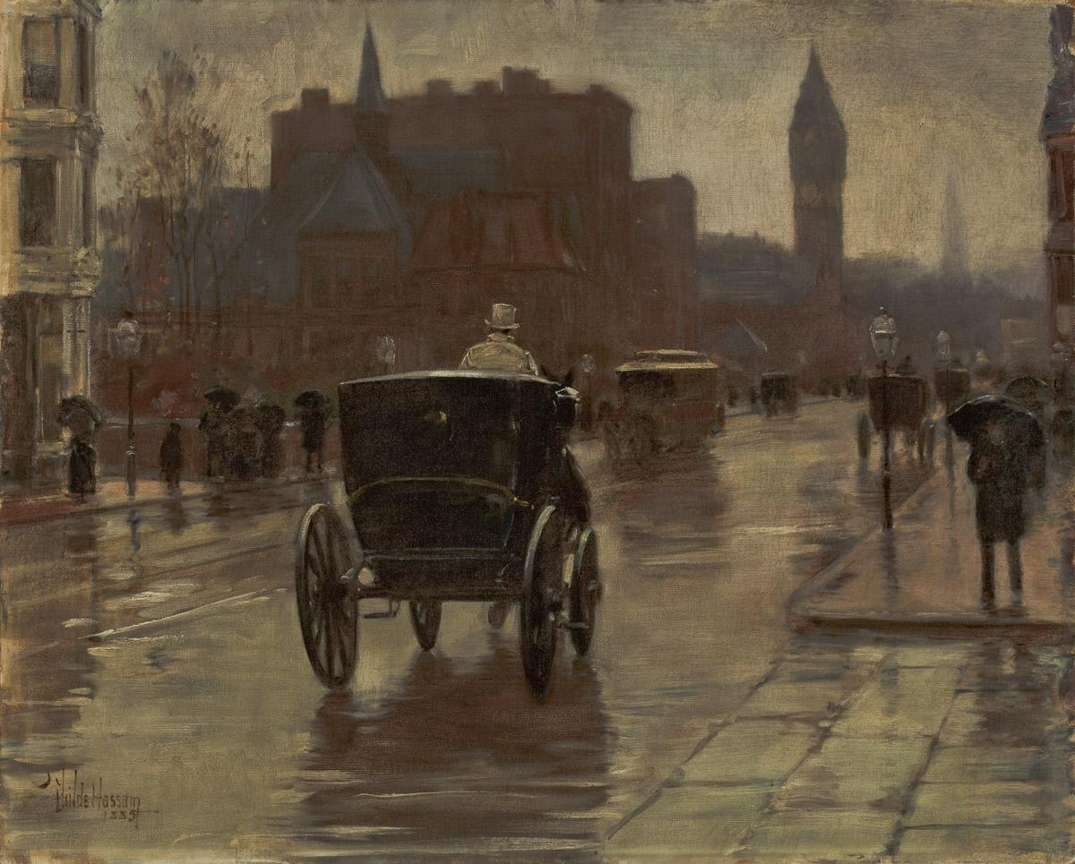 Columbus Avenue, Rainy Day (1885)