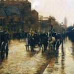 Columbus Avenue Rainy Day (1885)