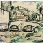 Esquisse pour Le vieux pont à Cagnes (1910)