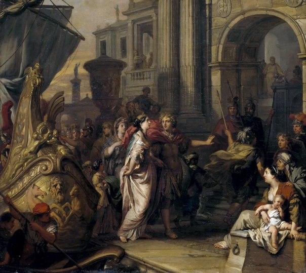 Helen Arriving in Troy (1685-1690)