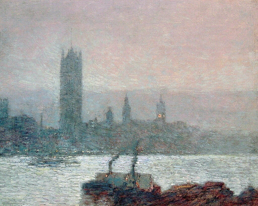 Houses of Parliament, Early Evening (1898)