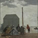 La Plage à Deauville (1864)